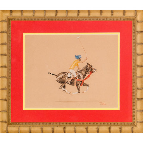 """Maharaja on Polo Pony, 1930"""