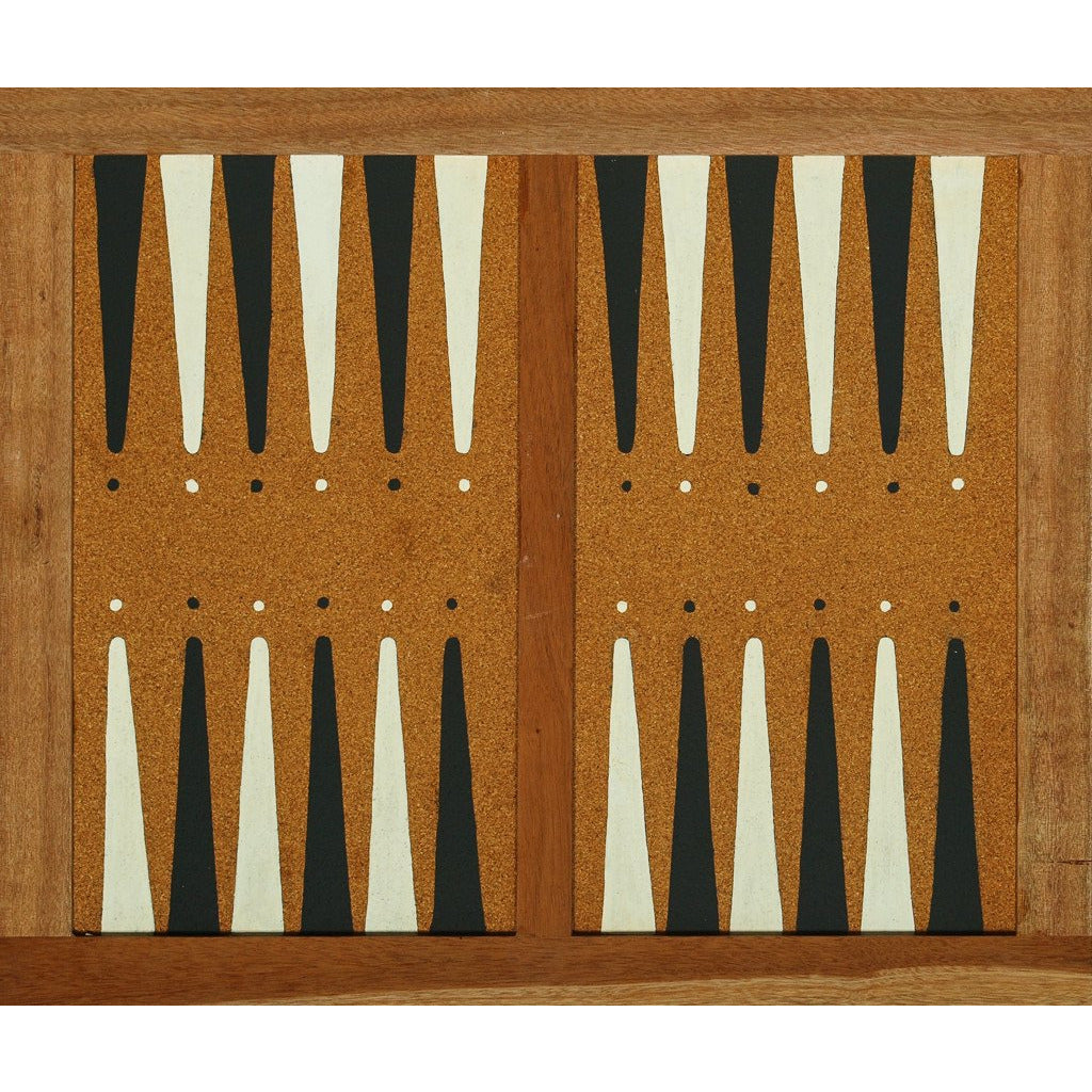 Vintage Cork/Wooden Backgammon Board