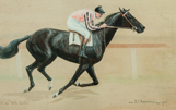 "Mrs Payne Whitney's Greentree Stables Racehorse ""Web Carter"" 1921 Watercolour"