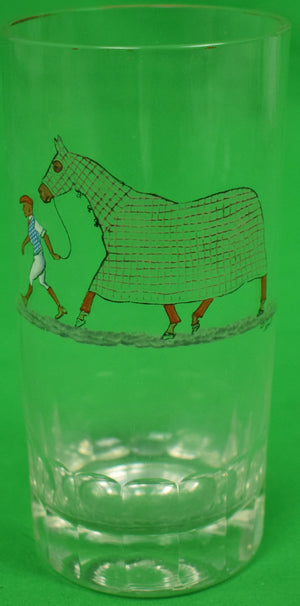 Cyril Gorainoff Jockey w/ Racehorse Glass