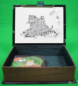 Boxed Set of 6 Lynn Chase Leopard Coasters