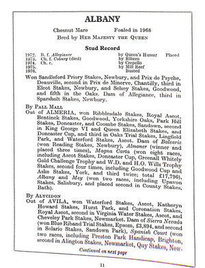 """Her Majesty's Racing and Breeding Studs"" 1975"