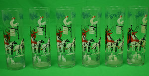 Set of 6 The White Cock Coach Inn Collins Glasses