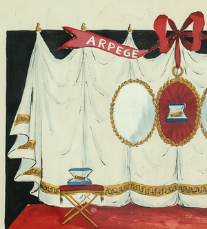 Lanvin of Paris Arpege Curtain Watercolour