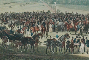 'The Betting Post at Epsom' 1836 by James Pollard