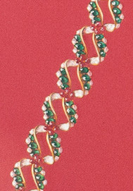 Bejeweled Diamond & Emerald Bracelet Original c1930s Gouache Artwork