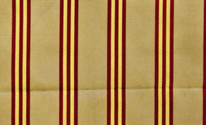 Brooks Brothers English Repp Stripe Silk Necktie Fabric w/ Gold & Burg on Taupe Ground