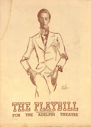 The Playbill for the Adelphi Theatre