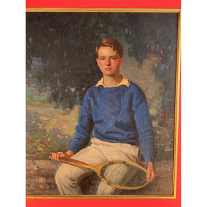 """Young Tennis Pro"" 1936 by Carl Wendell Rawson American, (1884-1970) (SOLD)"