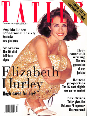 Tatler October 1994 Elizabeth Hurley Cover