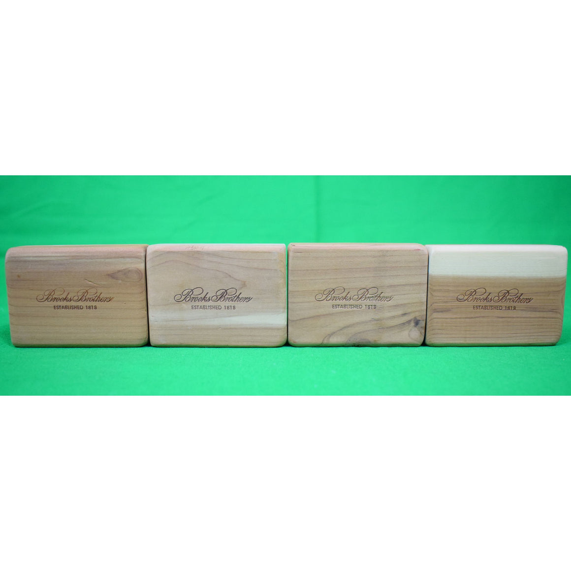 Set of 4 Brooks Brothers Cedar Wood Blocks