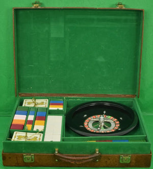 Vintage c.1960's Gucci Attache Cased Roulette Gaming Set