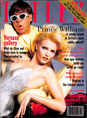 Tatler June 1995 Elton John Cover