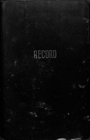 Menu Record Book