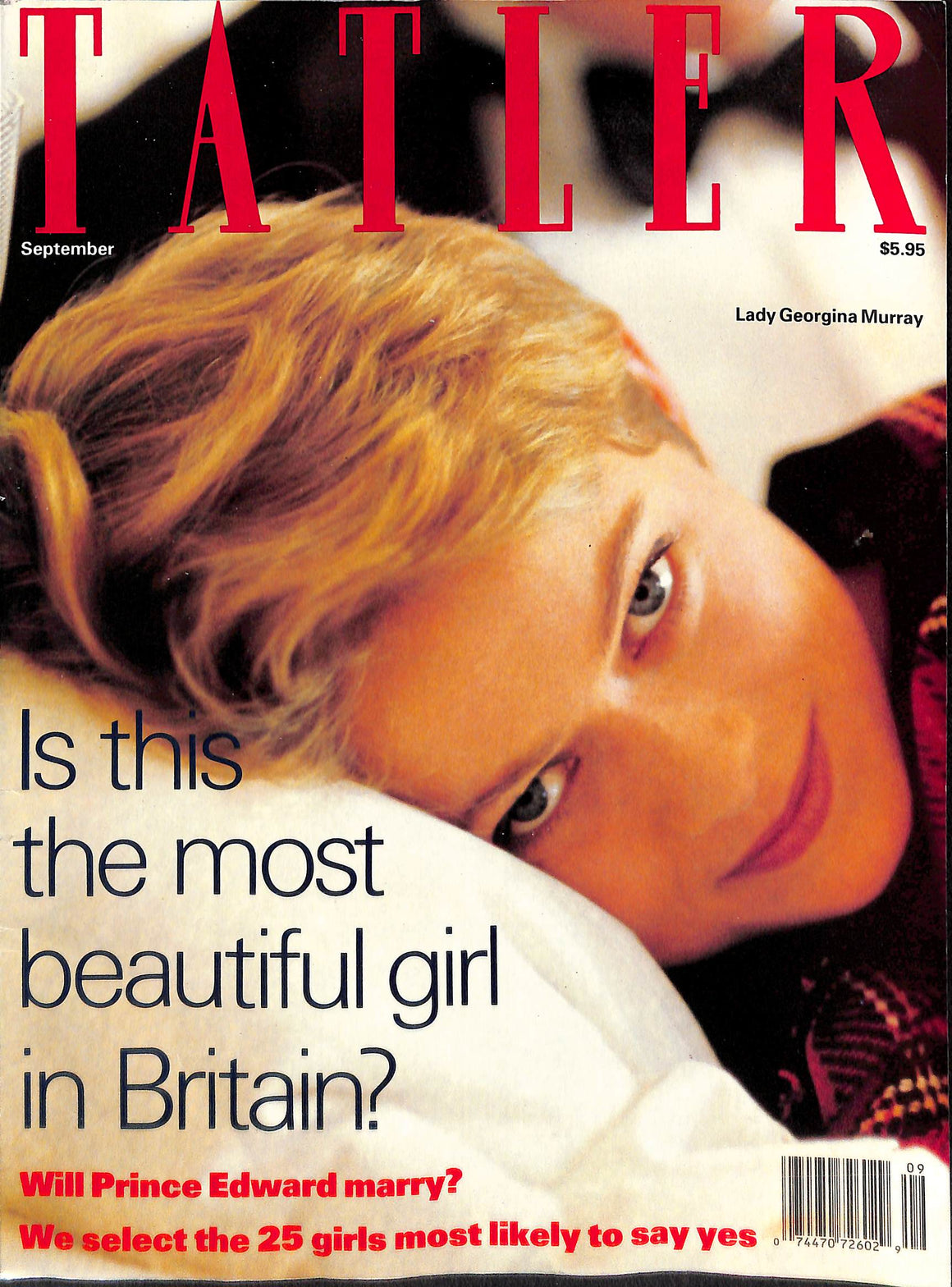 Tatler Volume 286 Number 8 September 1991 (SOLD!)