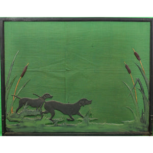 'Retrievers in Duck Blind Hunting Fire Screen'