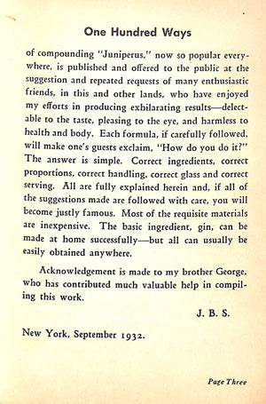 """One Hundred Ways Especially Prepared For Connoisseurs as Well as for the Novitiate""1932 by 'A Traveler'"
