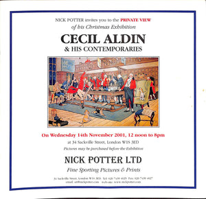 Nick Potter Christmas Exhibition: Cecil Aldin & His Contemporaries - 14 November 2001 (Sold!)