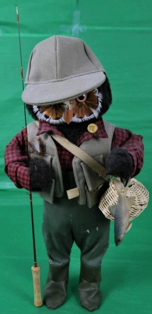 The London Owl Co for Abercrombie & Fitch 'The Fisherman' w/ A&F Badge/ Creel Basket/ 'Caught' Trout/ Fly Rod/ Gingham  Shirt & Waders!