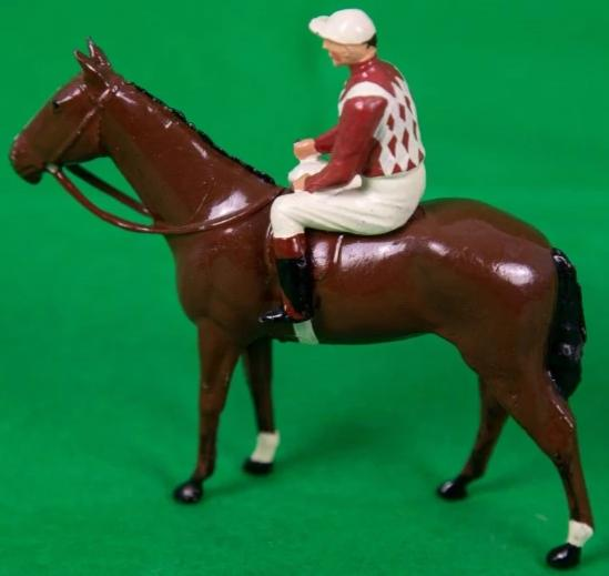 Britains Lead Jockey on Racehorse Made in England