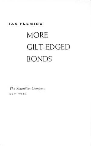 More Gilt-Edged Bonds