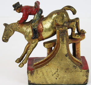 Fox Hunter Bronze Bookend