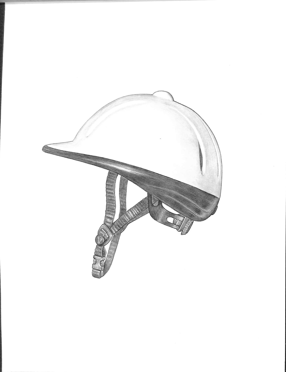 """Devonshire Aegis Helmet 2003"" Original Graphite Pencil Sketch"