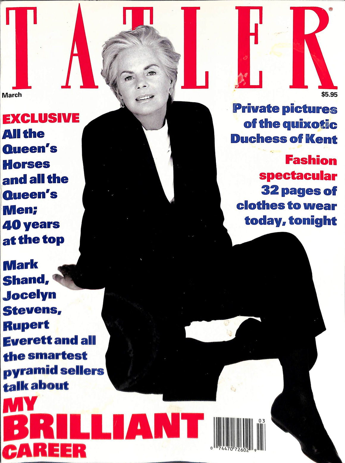 Tatler Volume 287 Number 3 March 1992