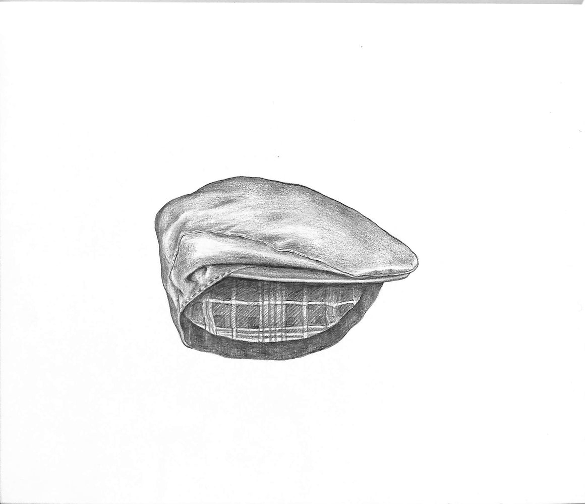 """Wax Cotton Cap"" Graphite Drawing"