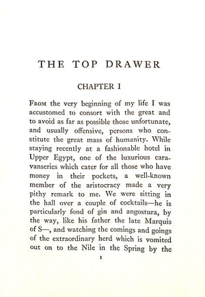 """The Top Drawer"" by One Who Was Born In It"