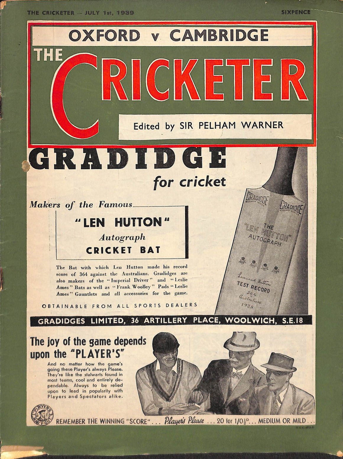 The Cricketer - July 1st, 1939