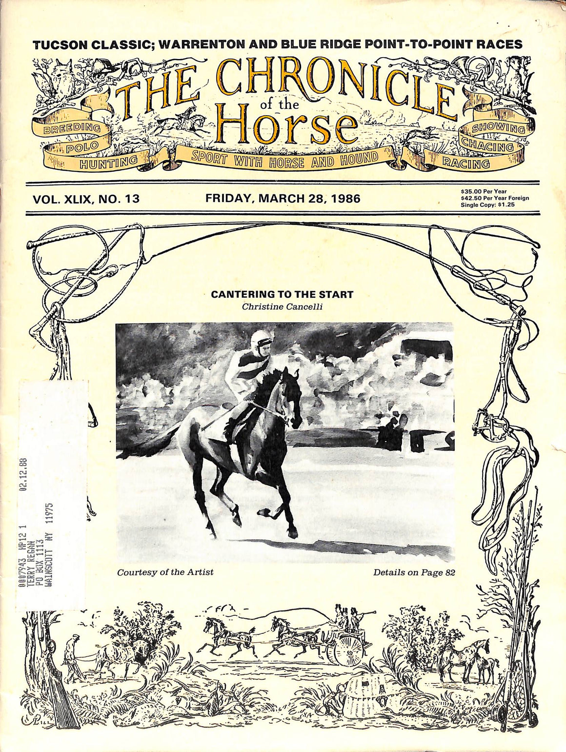 The Chronicle of the Horse: Vol. XLIX, No. 13 - March 28, 1986