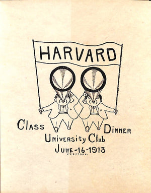 Harvard University Club Class Dinner June 16 1913 (Sold!)