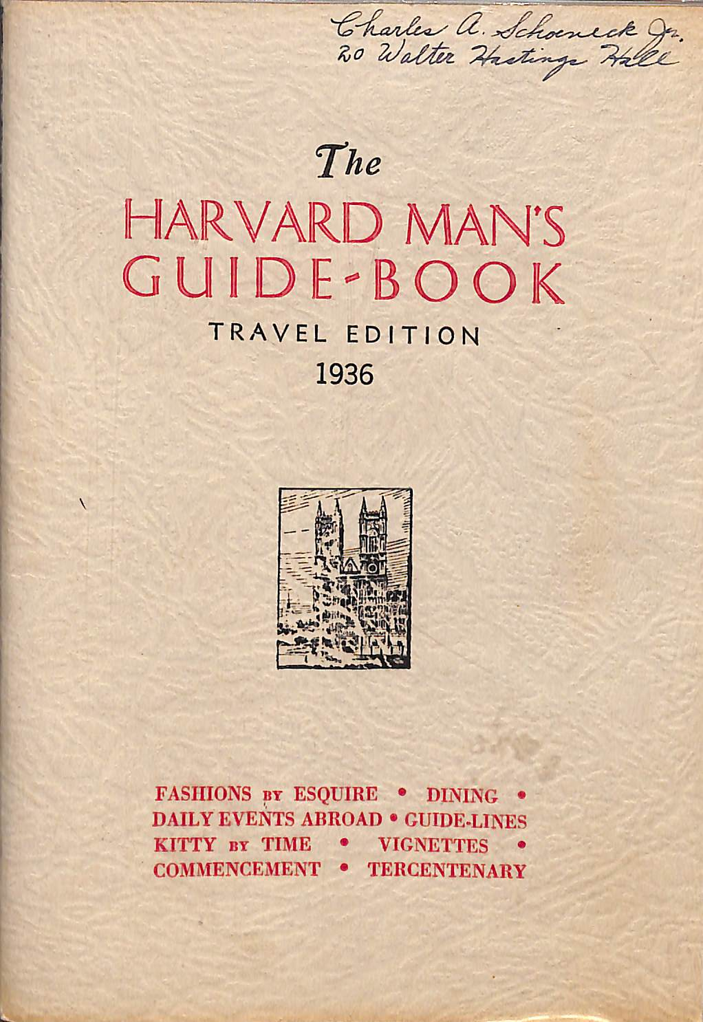 The Harvard Man's Guide-Book Travel Edition 1936