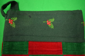 The Andover Shop Patchwork Red/ Green Corduroy X-mas Stocking (SOLD)