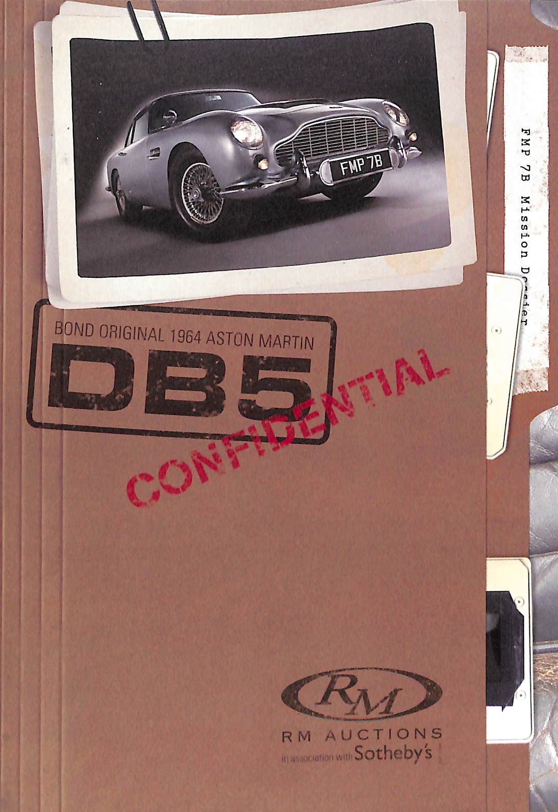 Bond Original 1964 Aston Martin DB5 RM Auction Booklet