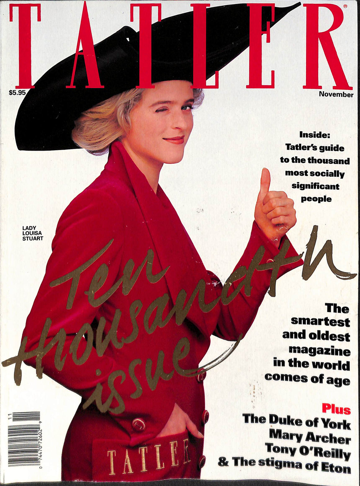 Tatler Volume 287 Number 11 November 1992 (Sold!)