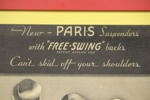 Paris Suspenders Advert Sign