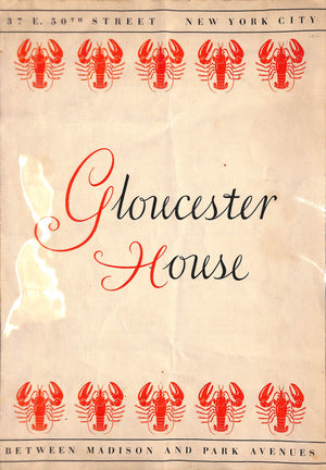 Gloucester House Menu