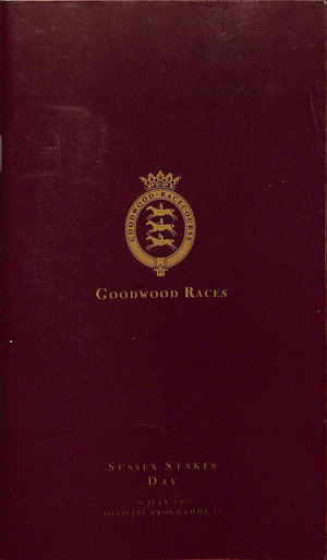 Goodwood Races: Sussex Stakes Day Programme- 21 July 1993