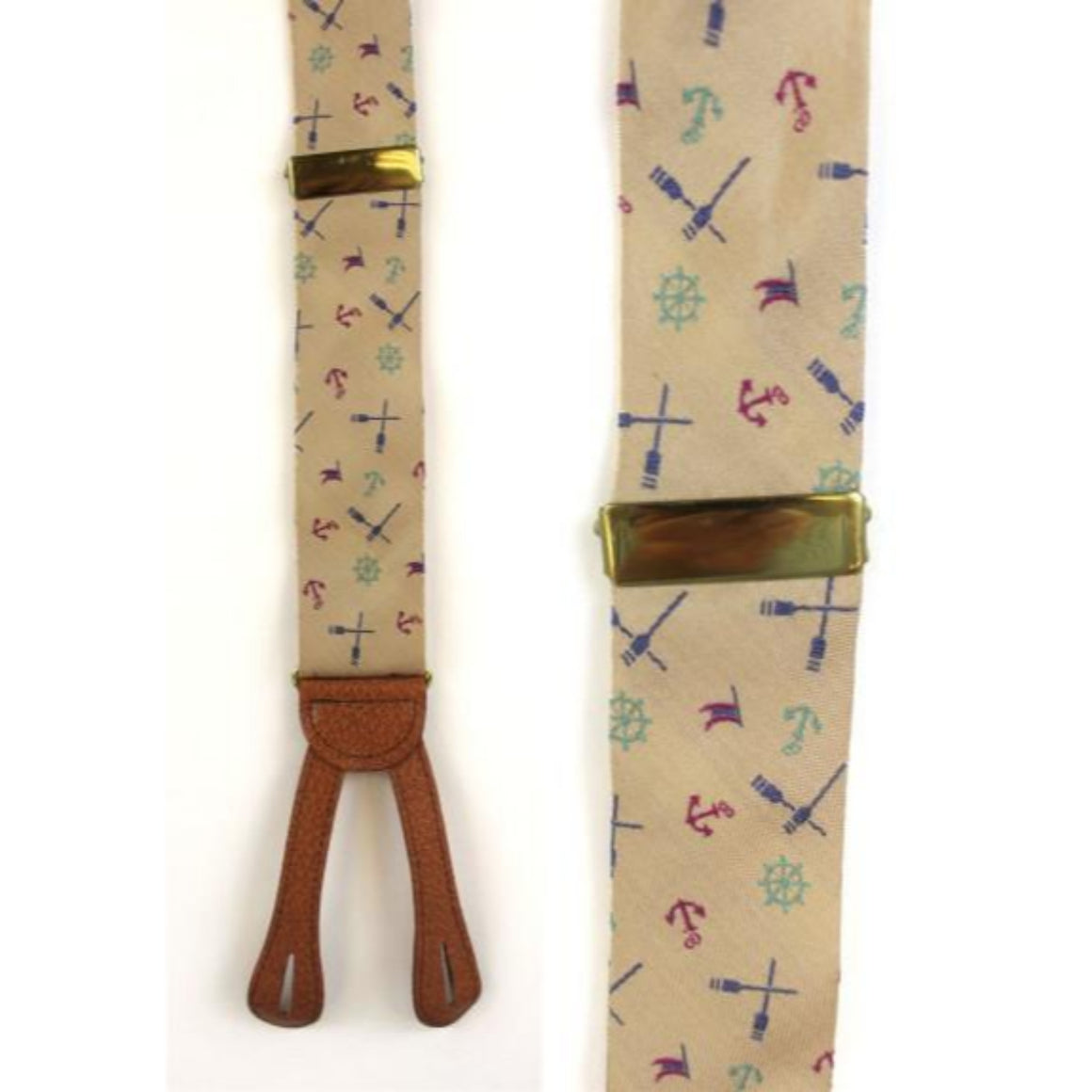 'Ferrell Reed Silk Nautical Motif Braces'