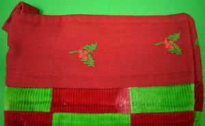 The Andover Shop Patchwork Red/ Green Corduroy Christmas Stocking