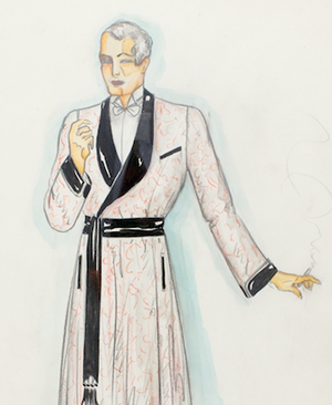Gentleman in Dressing Gown Watercolour