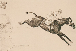 Steeplechase Drypoint by Paul Brown