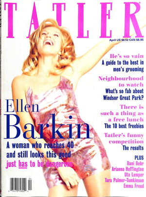 Tatler April 1995 Ellen Barkin Cover