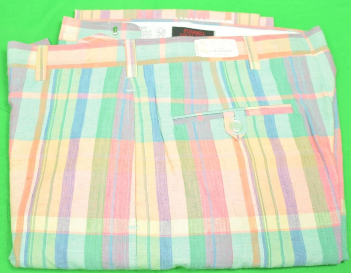 "O'Connell's GT Indian Madras Trousers Sz: 31""W New w/ Tag!"