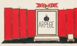 Lanvin of Paris Arpege Perfume c.1950's Watercolour