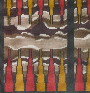 Needlepoint c.1970's Backgammon Board