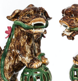 Pair of Chinoiserie Foo Dogs
