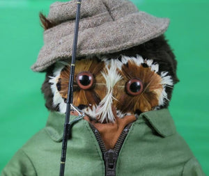 London Owl Co for Abercrombie & Fitch 'The Fisherman' w/ Fly Rod/ Caught Trout & Donegal Tweed Hat w/ Flies
